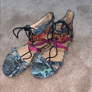EUC Aldo multicolor sandals